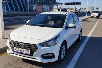 Прокат Hyundai Solaris 107 л.с. белый/серебристый